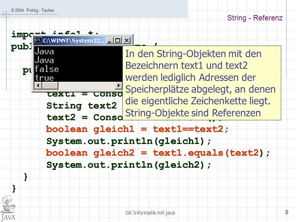 public class EqualsDemo { public static void main (String args[]) {